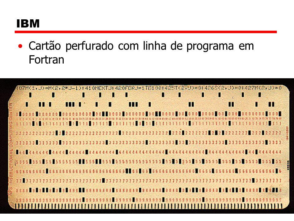 IBM Cartão perfurado com linha de programa em Fortran