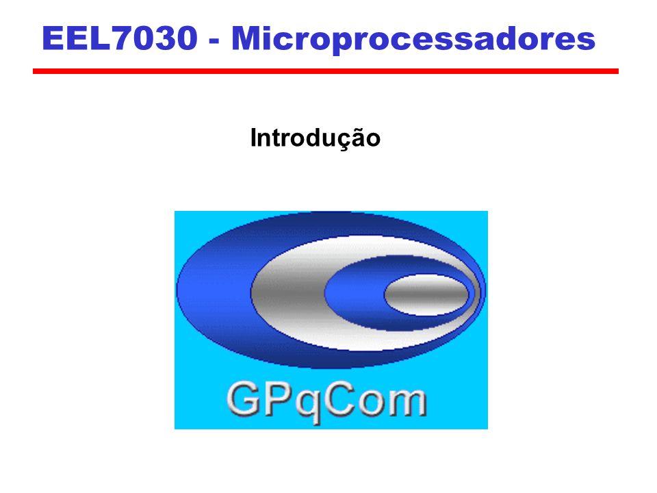 Intel 1971 - 4004 Primeiro Microprocessador Todos os componentes da CPU em um único CI 4 bits; projetado para aplicação específica 1972 - 8008 8 bits Projetado para aplicação específica 1974 – 8080 (2 MHz) Primeiro microprocessador de propósito geral