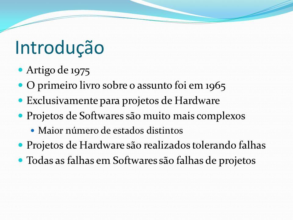 Introdução Artigo de 1975 O primeiro livro sobre o assunto foi em 1965 Exclusivamente para projetos de Hardware Projetos de Softwares são muito mais c