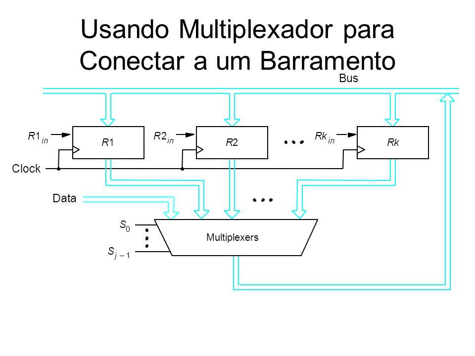Usando Multiplexador para Conectar a um Barramento