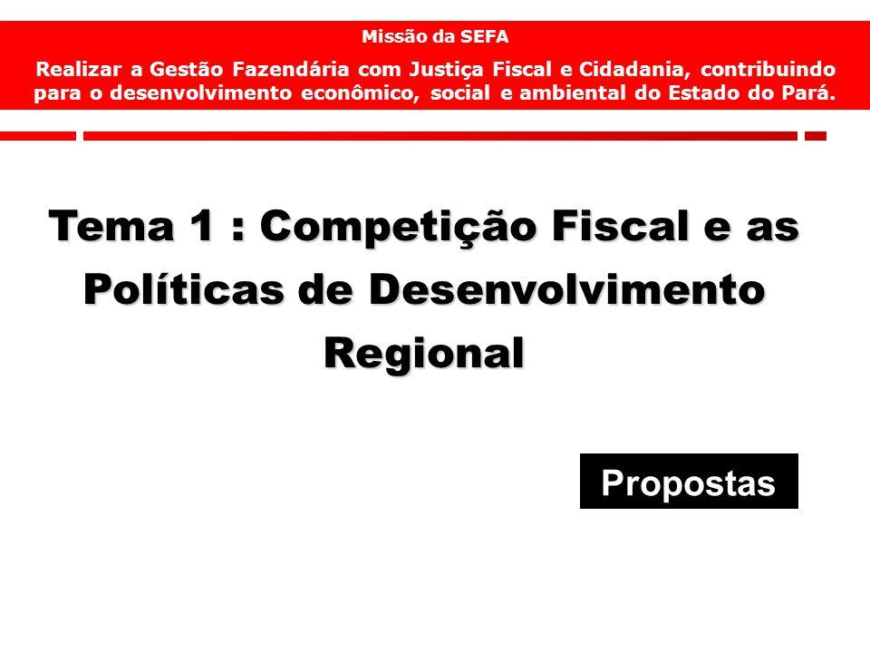 12 Missão da SEFA Realizar a Gestão Fazendária com Justiça Fiscal e Cidadania, contribuindo para o desenvolvimento econômico, social e ambiental do Es