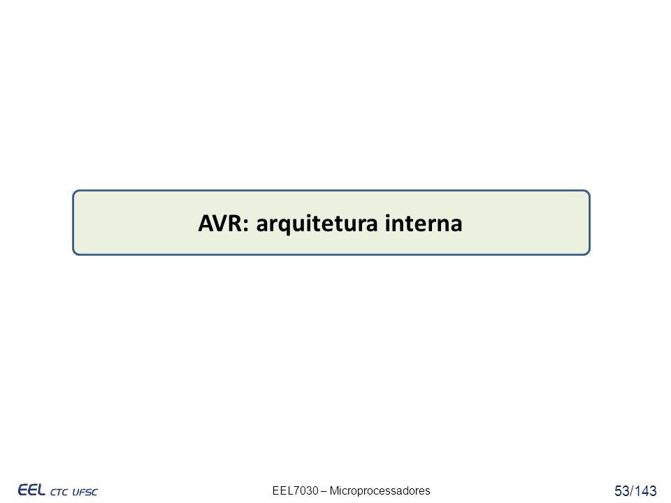 EEL7030 – Microprocessadores 53/143 AVR: arquitetura interna