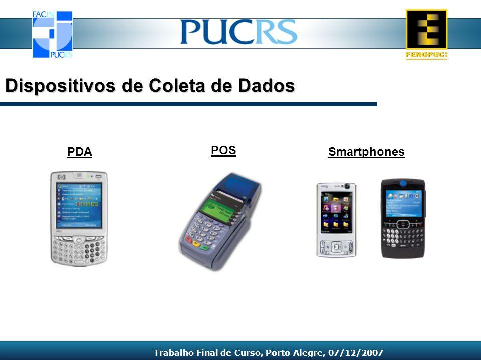 PDA Dispositivos de Coleta de Dados Trabalho Final de Curso, Porto Alegre, 07/12/2007 POS Smartphones