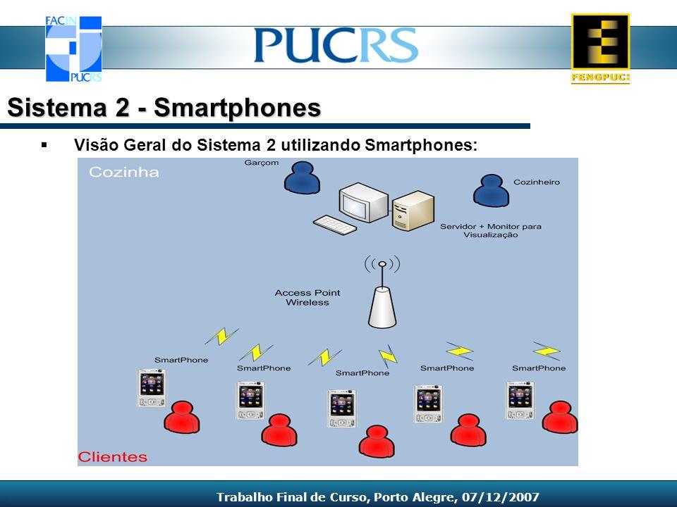 Visão Geral do Sistema 2 utilizando Smartphones: Sistema 2 - Smartphones Trabalho Final de Curso, Porto Alegre, 07/12/2007