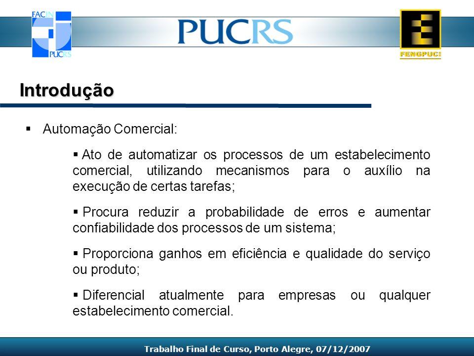 1.Introdução 2.Análise de Requisitos 3.Tecnologias Estudadas e Envolvidas 4.Sistema Proposto 5.Considerações Finais Capítulos Trabalho Final de Curso, Porto Alegre, 07/12/2007