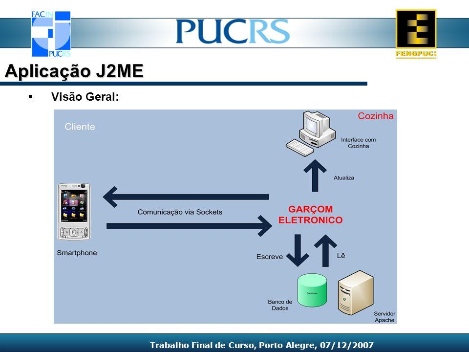 Visão Geral: Aplicação J2ME Trabalho Final de Curso, Porto Alegre, 07/12/2007
