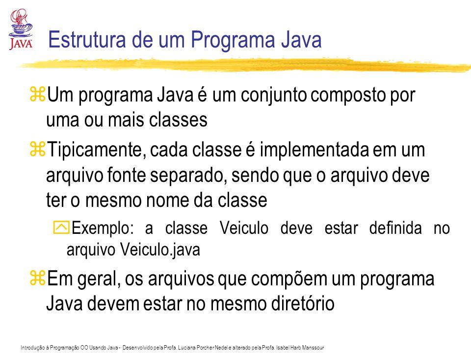 Introdução à Programação OO Usando Java - Desenvolvido pela Profa. Luciana Porcher Nedel e alterado pela Profa. Isabel Harb Manssour Estrutura de um P