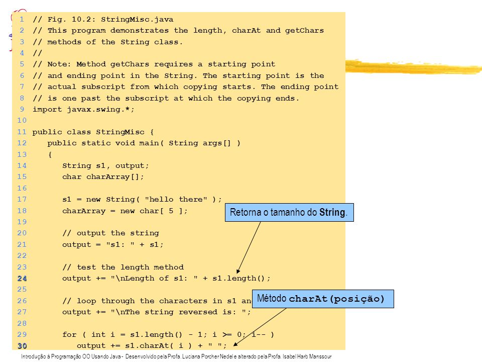 Introdução à Programação OO Usando Java - Desenvolvido pela Profa. Luciana Porcher Nedel e alterado pela Profa. Isabel Harb Manssour Exemplo de uso de