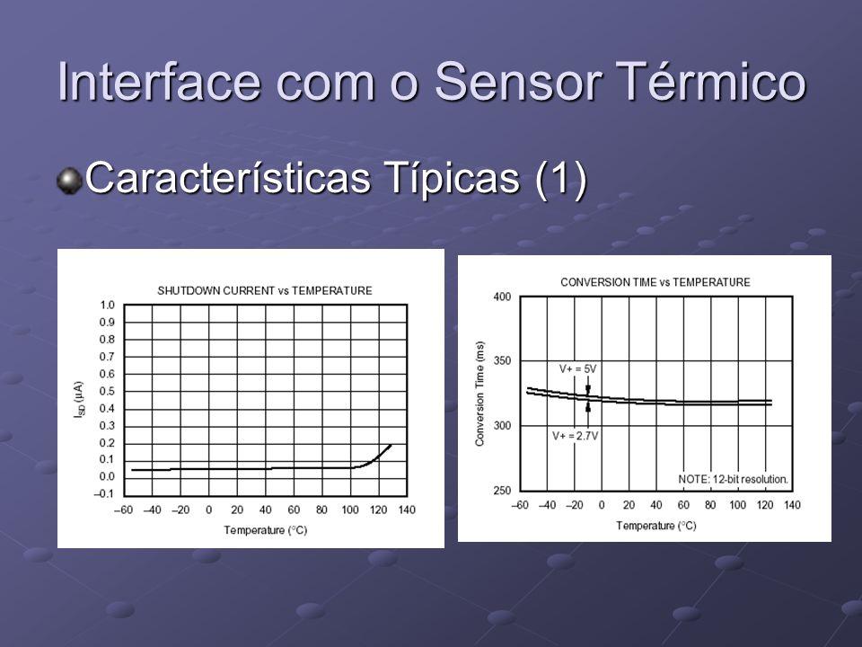 Interface com o Sensor Térmico Características Típicas (1)
