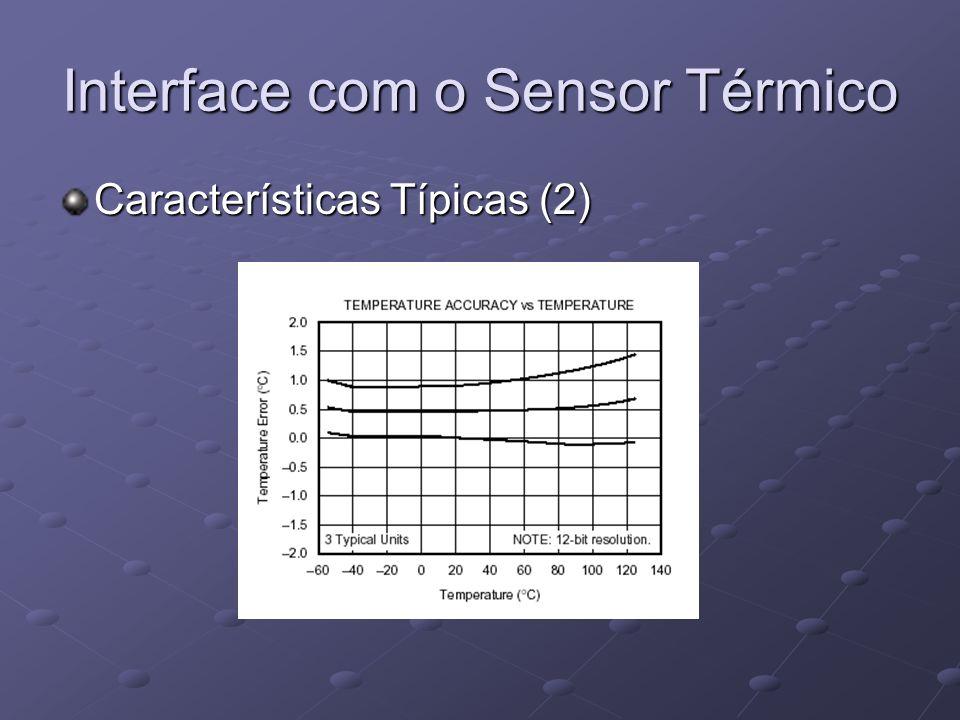 Interface com o Sensor Térmico Características Típicas (2)