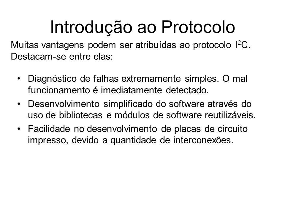 Introdução ao Protocolo Diagnóstico de falhas extremamente simples. O mal funcionamento é imediatamente detectado. Desenvolvimento simplificado do sof