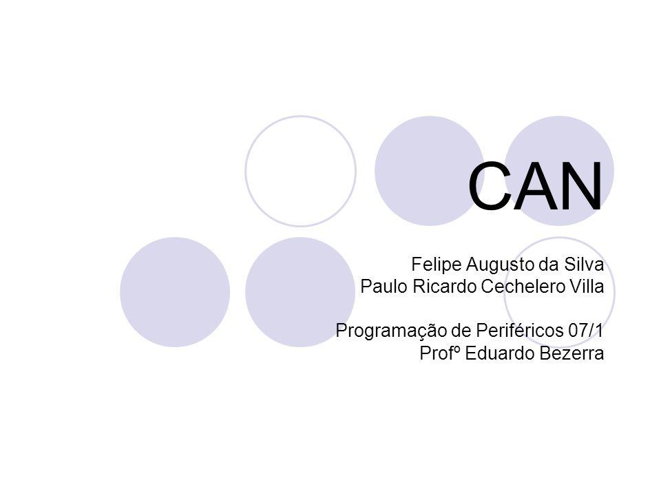 CAN Felipe Augusto da Silva Paulo Ricardo Cechelero Villa Programação de Periféricos 07/1 Profº Eduardo Bezerra