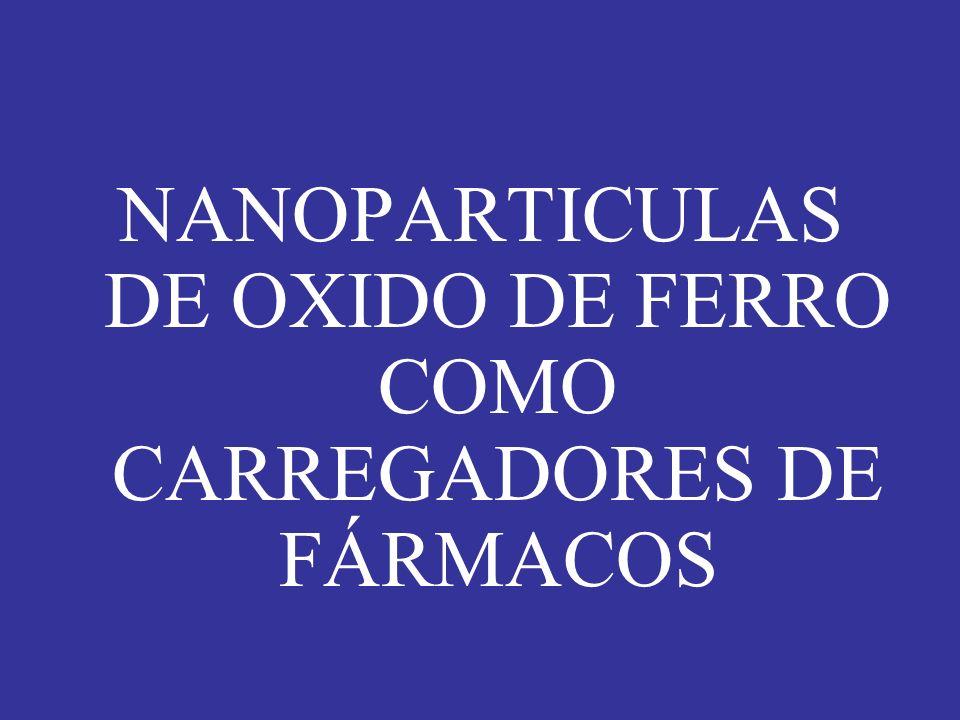 NANOPARTICULAS DE OXIDO DE FERRO COMO CARREGADORES DE FÁRMACOS