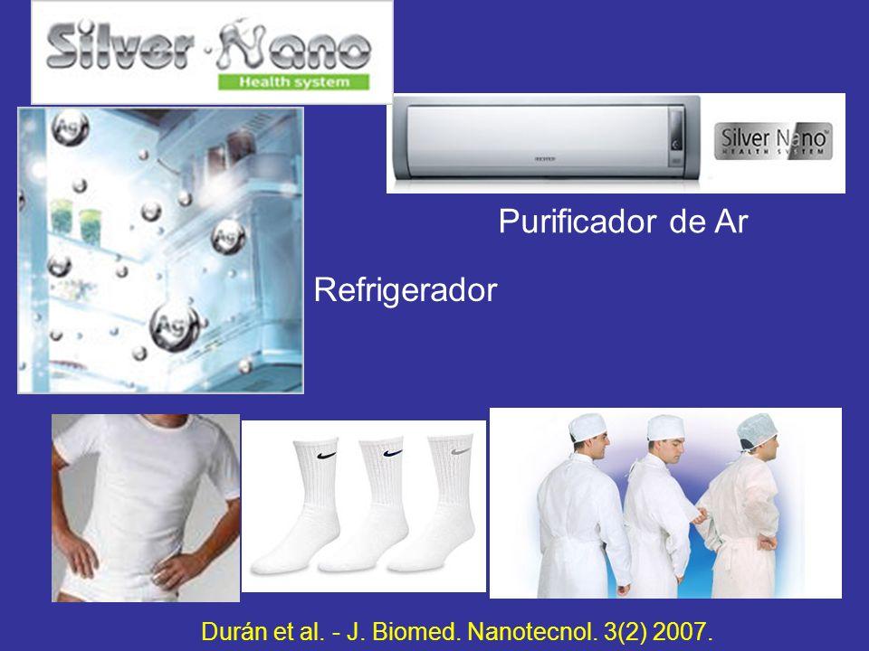 Refrigerador Purificador de Ar Durán et al. - J. Biomed. Nanotecnol. 3(2) 2007.
