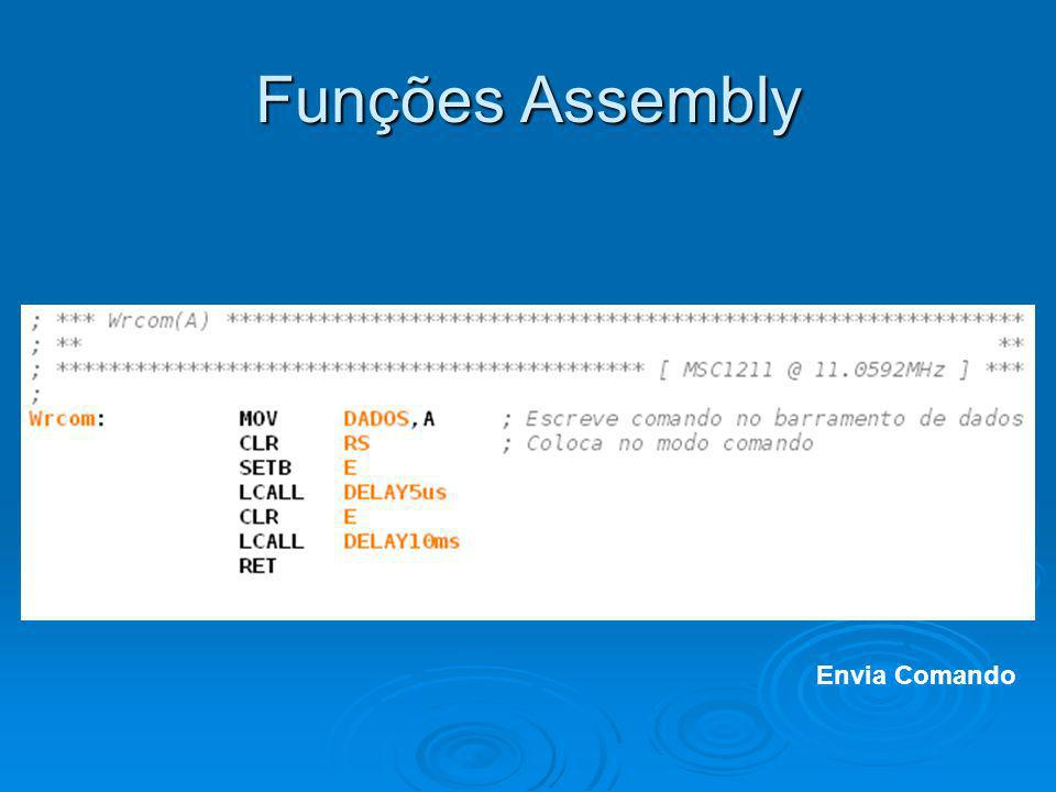 Funções Assembly Envia Comando