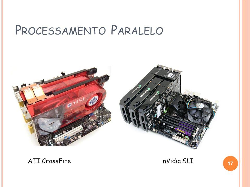 P ROCESSAMENTO P ARALELO 17 ATI CrossFirenVidia SLI