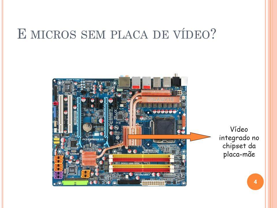 P ROCESSAMENTO G RÁFICO GPU O processador de placa de vídeo, chamado de unidade de processamento gráfico (graphics processing unit - GPU), é semelhante a uma CPU.