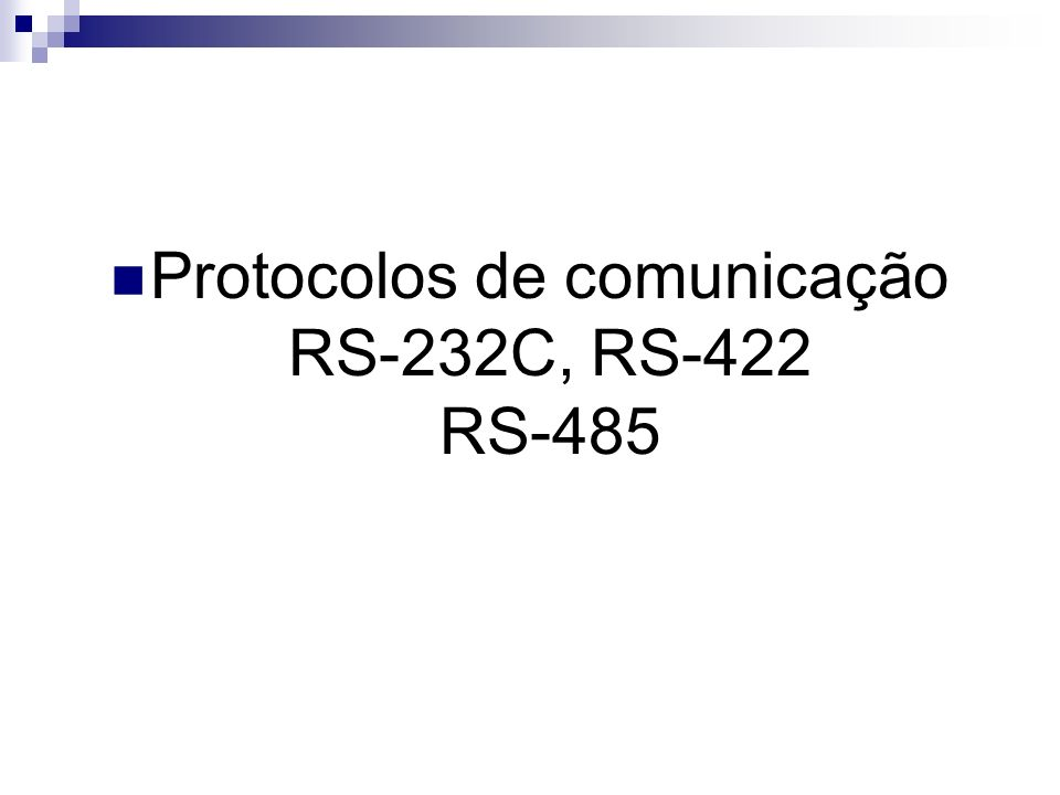 Conversão RS-232/RS-485 Outra grande vantagem do padrão RS- 485 é a facilidade de conversão do padrão RS-232 ao RS-485, simplesmente utilizando um CI, com isso tem-se que a compatibilidade com dispositivos já existentes no mercado é mantida.