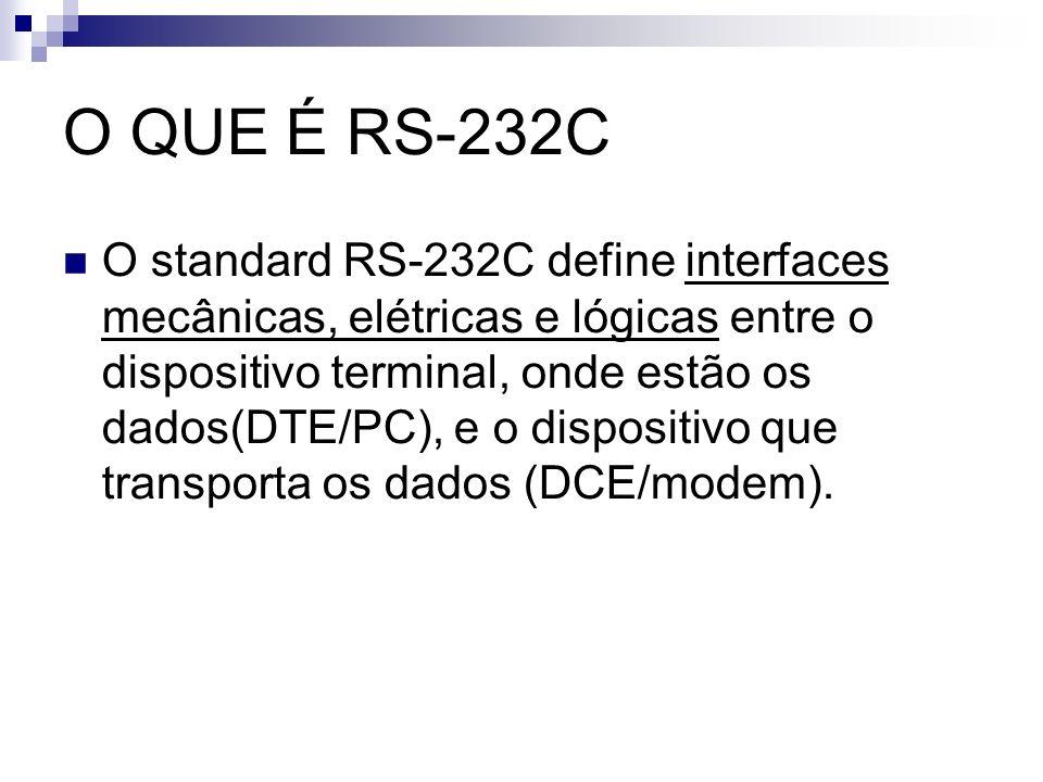 Características gerais: Sinais: A RS422 possui sinais de comunicação Tx+, Rx+, Tx- e RX-, 4 fios.
