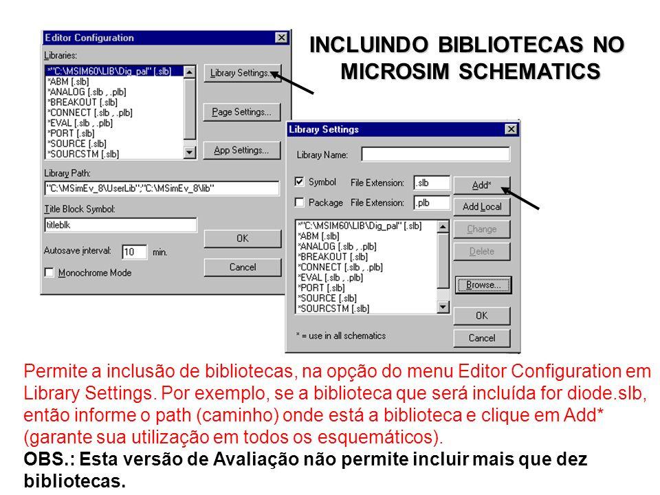 Permite a inclusão de bibliotecas, na opção do menu Editor Configuration em Library Settings.