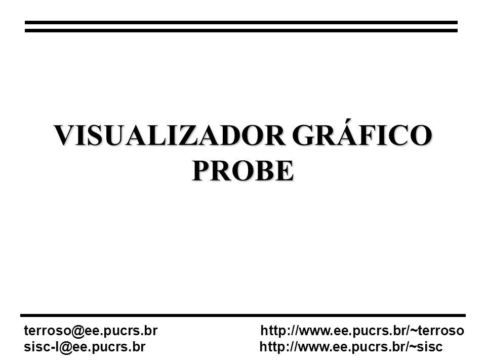 VISUALIZADOR GRÁFICO PROBE terroso@ee.pucrs.br http://www.ee.pucrs.br/~terroso sisc-l@ee.pucrs.br http://www.ee.pucrs.br/~sisc