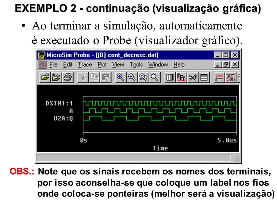 Ao terminar a simulação, automaticamente é executado o Probe (visualizador gráfico).