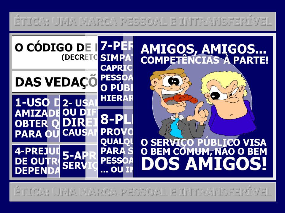 24 O CÓDIGO DE ÉTICA DO SERVIDOR PÚBLICO (DECRETO 1.171, DE 22 DE JUNHO DE 1994) PRINCIPAIS DEVERES DO SERVIDOR PÚBLICO 1-DESEMPENHAR, A TEMPO, AS ATR