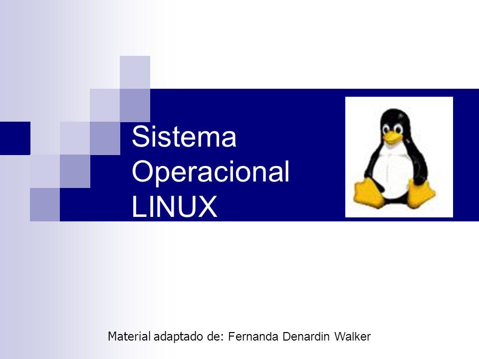 Sistema Operacional LINUX Material adaptado de: Fernanda Denardin Walker