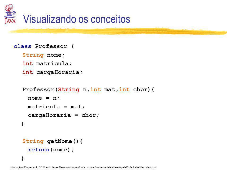 Introdução à Programação OO Usando Java - Desenvolvido pela Profa. Luciana Porcher Nedel e alterado pela Profa. Isabel Harb Manssour Visualizando os c