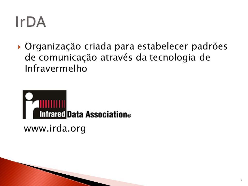 Organização criada para estabelecer padrões de comunicação através da tecnologia de Infravermelho www.irda.org 3