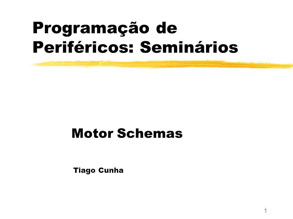 1 Programação de Periféricos: Seminários Motor Schemas Tiago Cunha