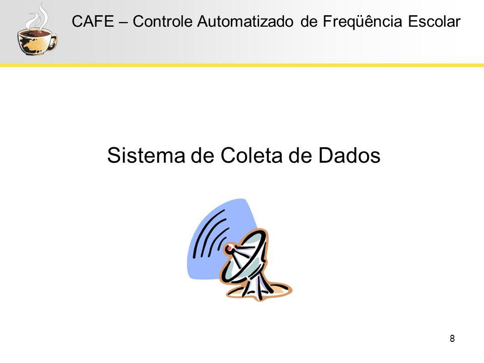 8 CAFE – Controle Automatizado de Freqüência Escolar Sistema de Coleta de Dados