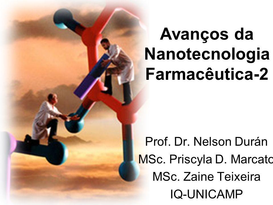 Avanços da Nanotecnologia Farmacêutica-2 Prof. Dr. Nelson Durán MSc. Priscyla D. Marcato MSc. Zaine Teixeira IQ-UNICAMP aula-3 (22/08/07)