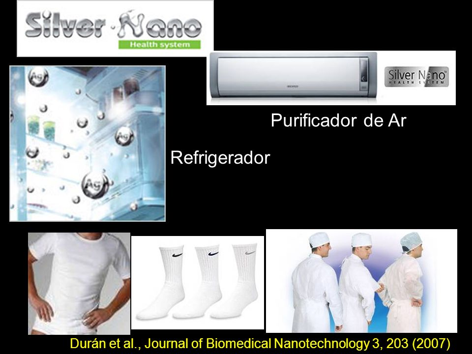 Refrigerador Purificador de Ar Durán et al., Journal of Biomedical Nanotechnology 3, 203 (2007)