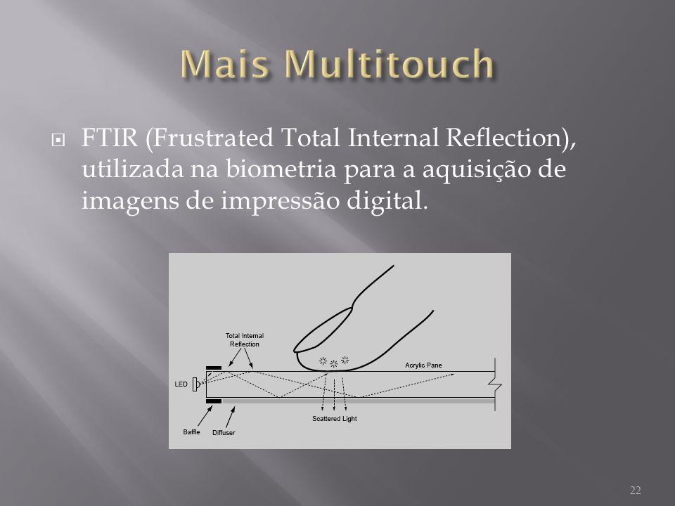 FTIR (Frustrated Total Internal Reflection), utilizada na biometria para a aquisição de imagens de impressão digital. 22