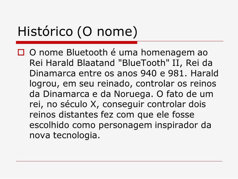 Histórico (O nome) O nome Bluetooth é uma homenagem ao Rei Harald Blaatand