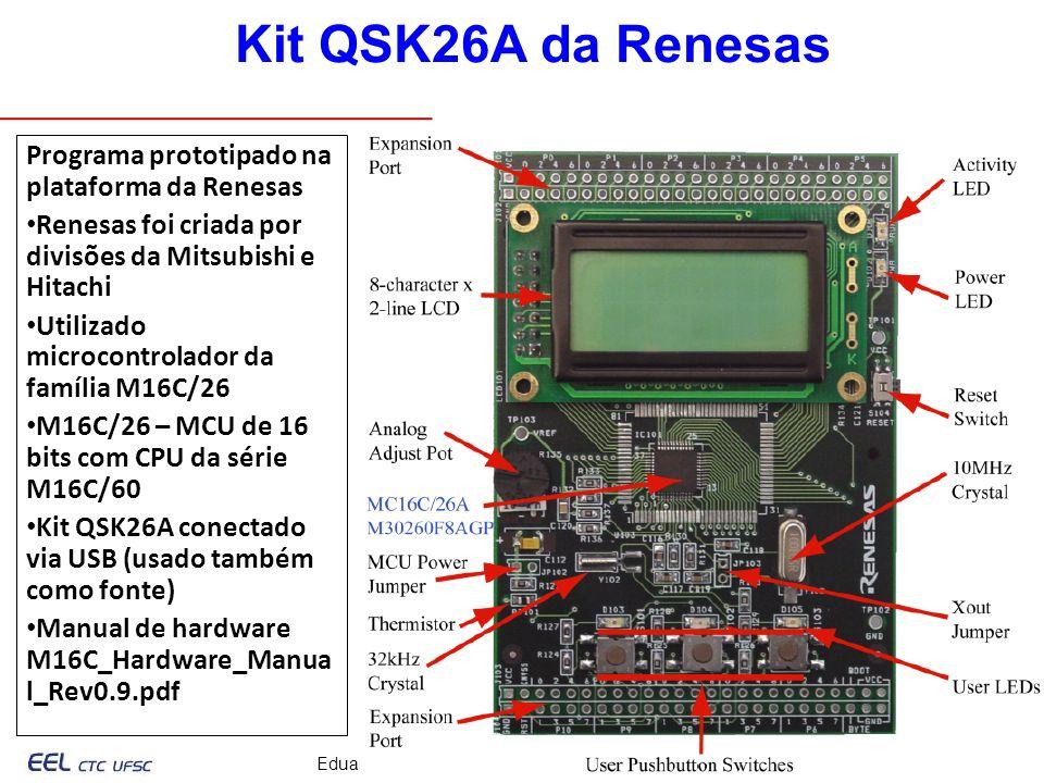 Eduardo Bezerra, UFSC – Eduardo.Bezerra@computer.org 10/33 Programa prototipado na plataforma da Renesas Renesas foi criada por divisões da Mitsubishi