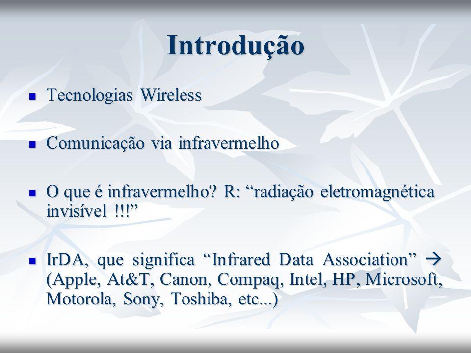Referências Infrared: History of The IrDA Standard.