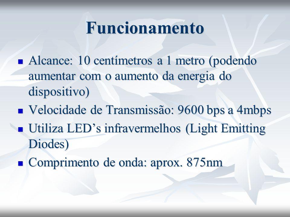 Como desenvolver seu dispositivo IrDA Abaixo mostra-se uma configuração de circuito elétrico que pode ser utilizado na construção de um dispositivo IrDA.