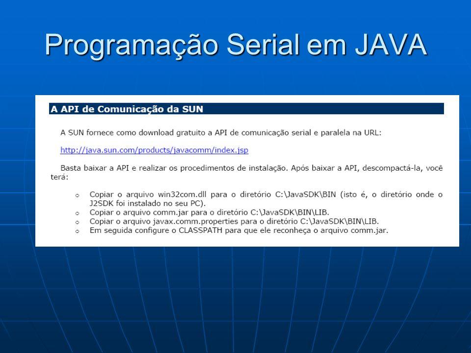 Programação Serial em JAVA