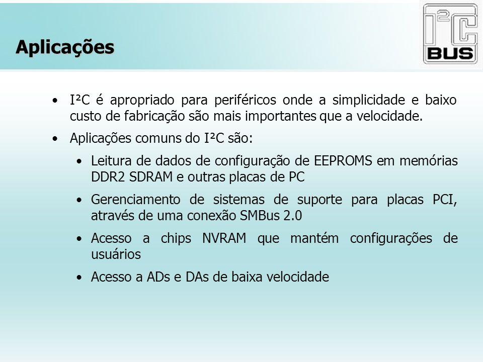 Aplicações I²C é apropriado para periféricos onde a simplicidade e baixo custo de fabricação são mais importantes que a velocidade. Aplicações comuns