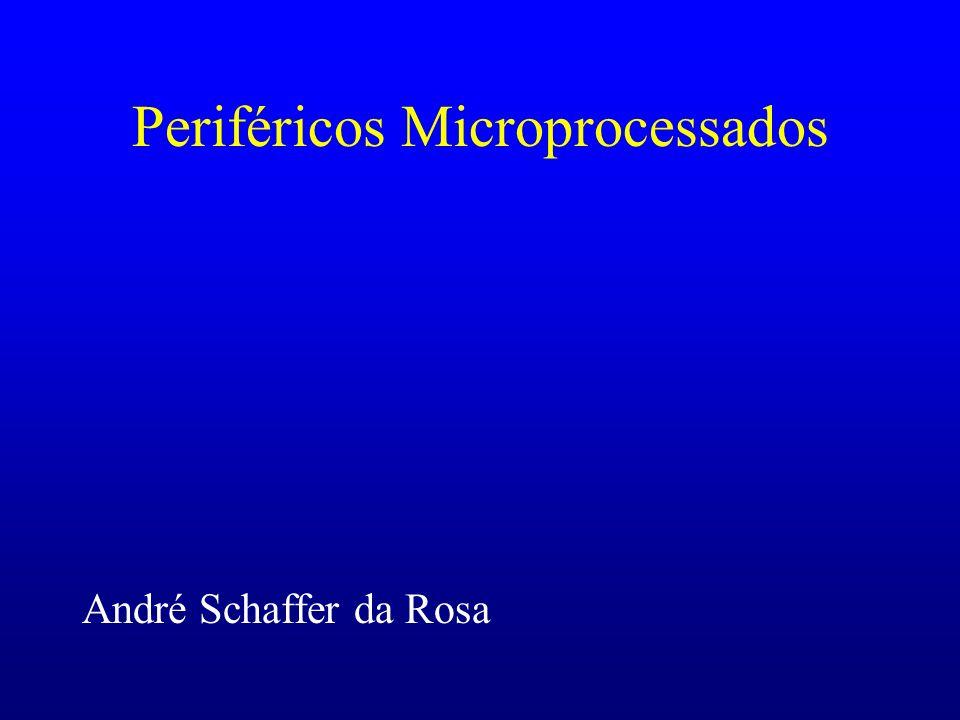 Princípio de Operação Todos os periféricos microprocessados tem o mesmo princípio básico de operação: O periférico recebe um dado de entrada (pela interface de entrada), executa sua função programada e gera uma saída (para um PC, servidor, ou outro periférico).