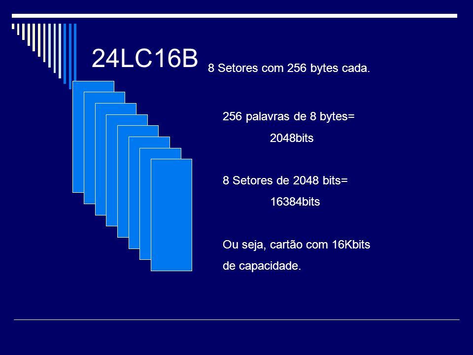 8 Setores com 256 bytes cada.