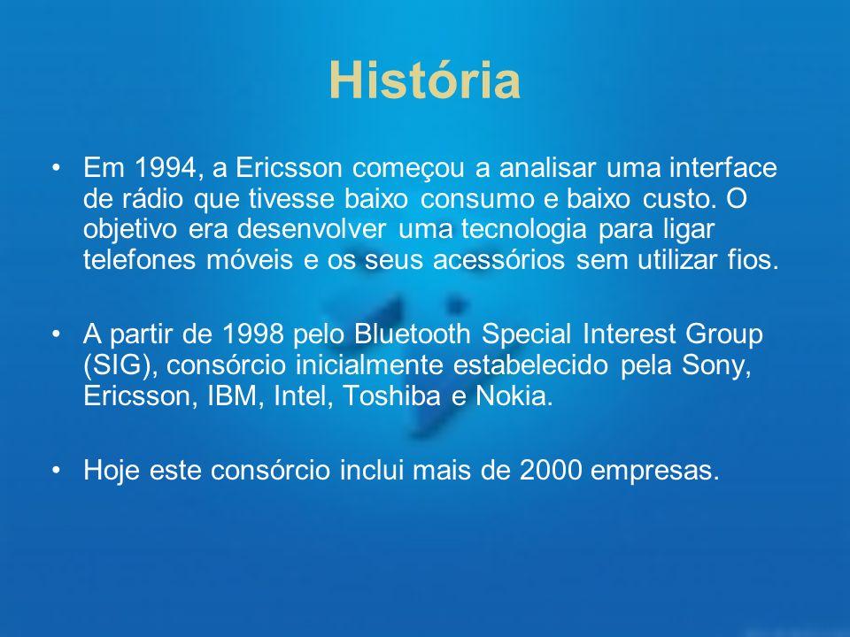 História Em 1994, a Ericsson começou a analisar uma interface de rádio que tivesse baixo consumo e baixo custo. O objetivo era desenvolver uma tecnolo