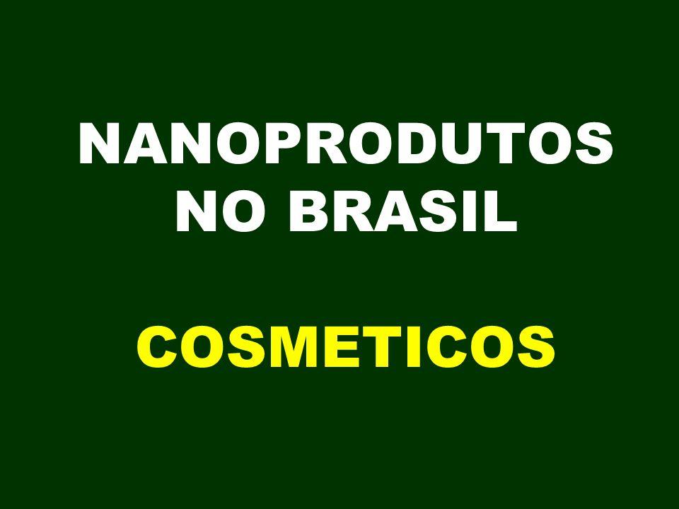 NANOPRODUTOS NO BRASIL COSMETICOS