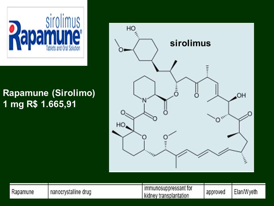 sirolimus Rapamune (Sirolimo) 1 mg R$ 1.665,91