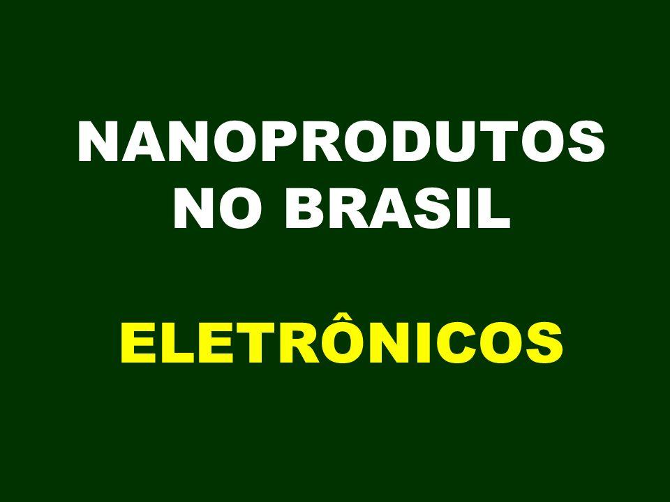 NANOPRODUTOS NO BRASIL ELETRÔNICOS