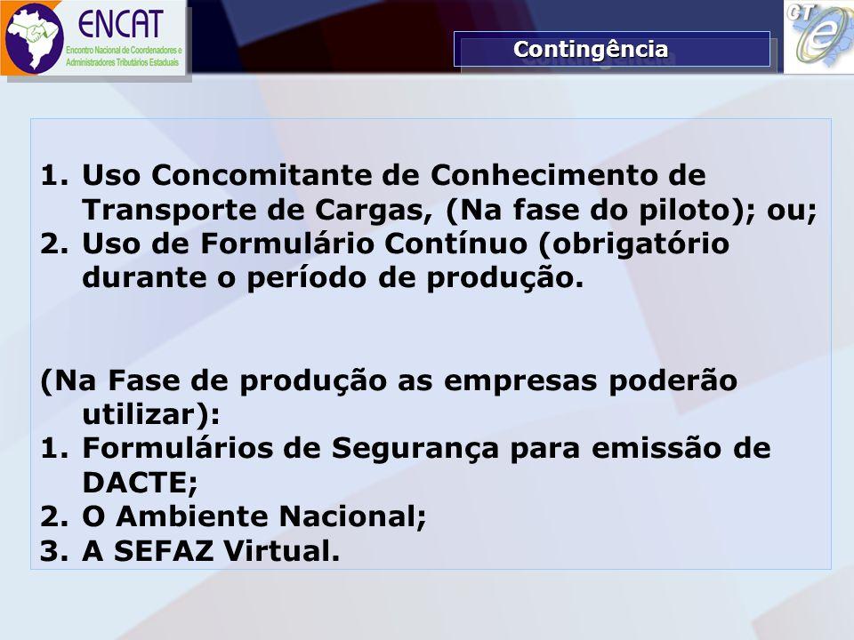 Soluções Tecnológicas em Administração Tributária ENCAT – ENCONTRO NACIONAL DE COORDENADORES E ADMINISTRADORES TRIBUTÁRIOS ESTADUAIS 1.Uso Concomitant