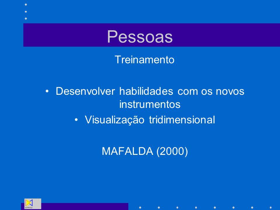 Pessoas Treinamento Desenvolver habilidades com os novos instrumentos Visualização tridimensional MAFALDA (2000)