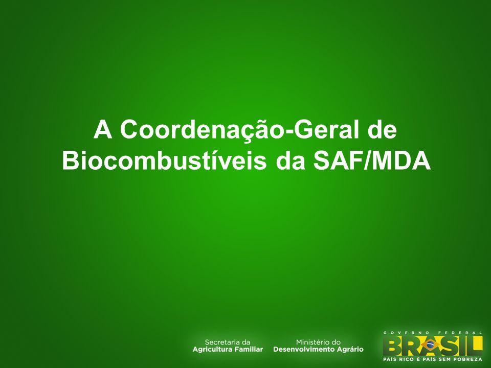 A Coordenação-Geral de Biocombustíveis da SAF/MDA